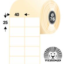 40 * 25 mm, samolepiace termo etikety (10000 etikiet/kotúč)