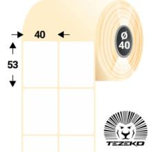 40 * 53 mm-es, öntapadós termál etikett címke (8000 címke/tekercs)