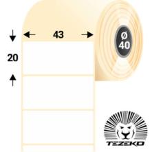 43 * 20 mm-es, samolepiace termo etikety (2900 etikiet/kotúč)