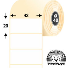 43 * 20 mm, samolepiace termo etikety (1450 etikiet/kotúč)