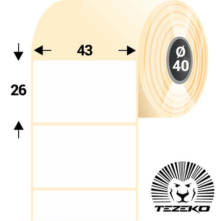 43 * 26 mm-es, samolepiace termo etikety (2000 etikiet/kotúč)