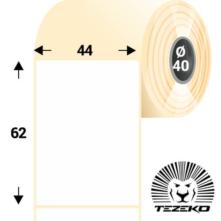 44 * 62 mm-es, öntapadós termál etikett címke (900 címke/tekercs)