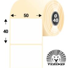 50 * 40 mm, samolepiace termo etikety (1200 etikiet/kotúč)
