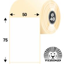 50 * 75 mm-es, öntapadós termál etikett címke (500 címke/tekercs)