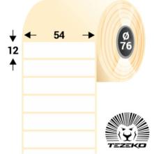 54 * 12 mm-es, samolepiace termo etikety (1000 etikiet/kotúč)