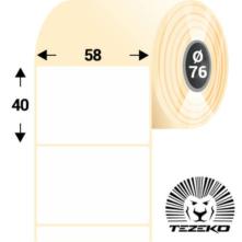 58 * 40 mm-es, samolepiace termo etikety (2300 etikiet/kotúč)