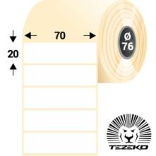 70 * 20 mm, samolepiace termo etikety (3000 etikiet/kotúč)