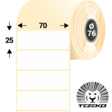 70 * 25 mm, samolepiace termo etikety (6000 etikiet/kotúč)
