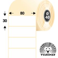 80 * 30 mm, samolepiace termo etikety (1800 etikiet/kotúč)
