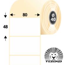80 * 48 mm-es, samolepiace termo etikety (1000 etikiet/kotúč)