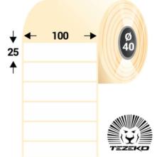100 * 25 mm-es, samolepiace termo etikety (2000 etikiet/kotúč)