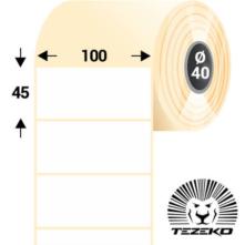 100 * 45 mm-es, samolepiace termo etikety (500 etikiet/kotúč)