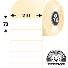 210 * 70 mm, samolepiace termo etikety (2700 etikiet/kotúč)