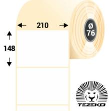 210 * 148 mm, samolepiace termo etikety (1000 etikiet/kotúč)