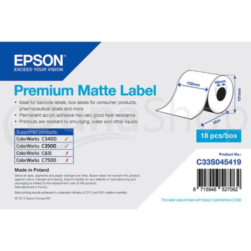 Epson samolepiace etikety C33S045419