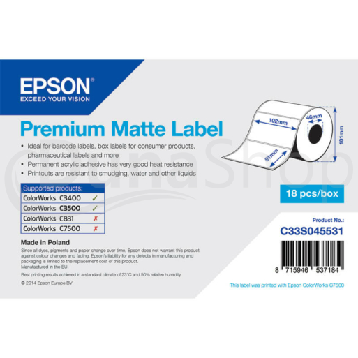 Epson samolepiace etikety C33S045531