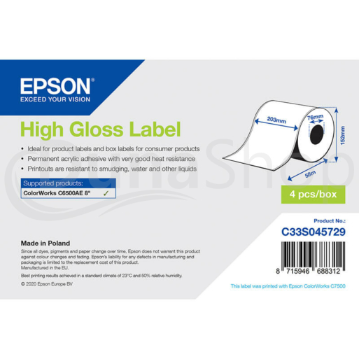 Epson samolepiace etikety C33S045729