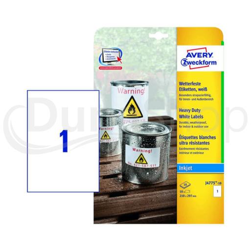 Avery Zweckform öntapadó íves etikett címke J4775-10