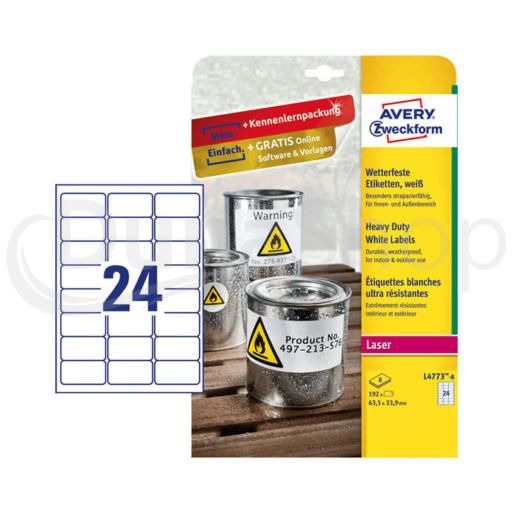Avery Zweckform öntapadó íves etikett címke L4773-20