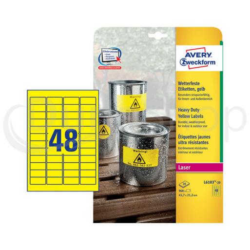Avery Zweckform öntapadó íves etikett címke L6103-20