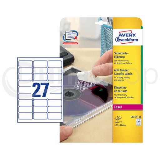 Avery Zweckform öntapadó íves etikett címke L6114-20