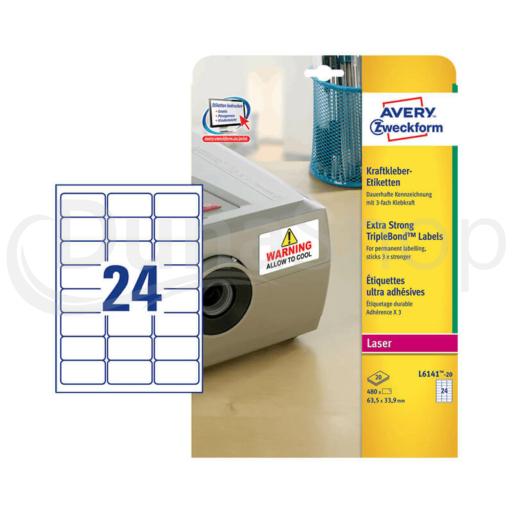 Avery Zweckform öntapadó íves etikett címke L6141-20