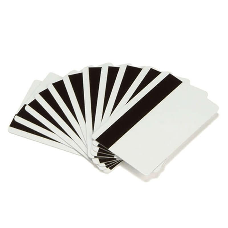 Zebra 30 mil PVC karta, s HiCo magnetickým prúžkom CR80 (500 kariet/balenie)