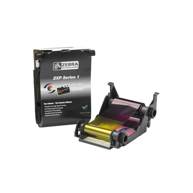 Zebra ZXP1, Biela farbiaca páska , 500 kariet/kotúč