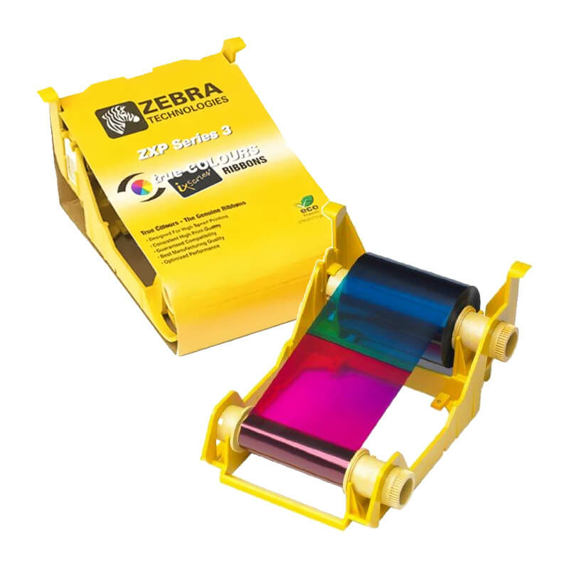 Zebra ZXP3, Čierna farbiaca páska (ECO), 2000 kariet/kotúč