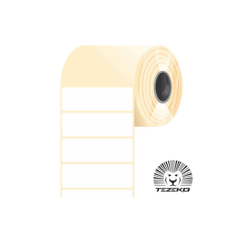 60 * 20 mm-es, öntapadós műanyag etikett címke (2500 címke/tekercs)
