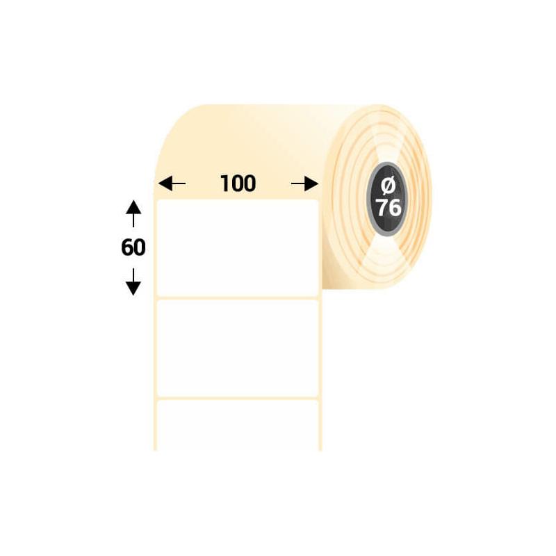 100 * 60 mm, samolepiaca papierová etiketa (3000 etikiet/kotúč)