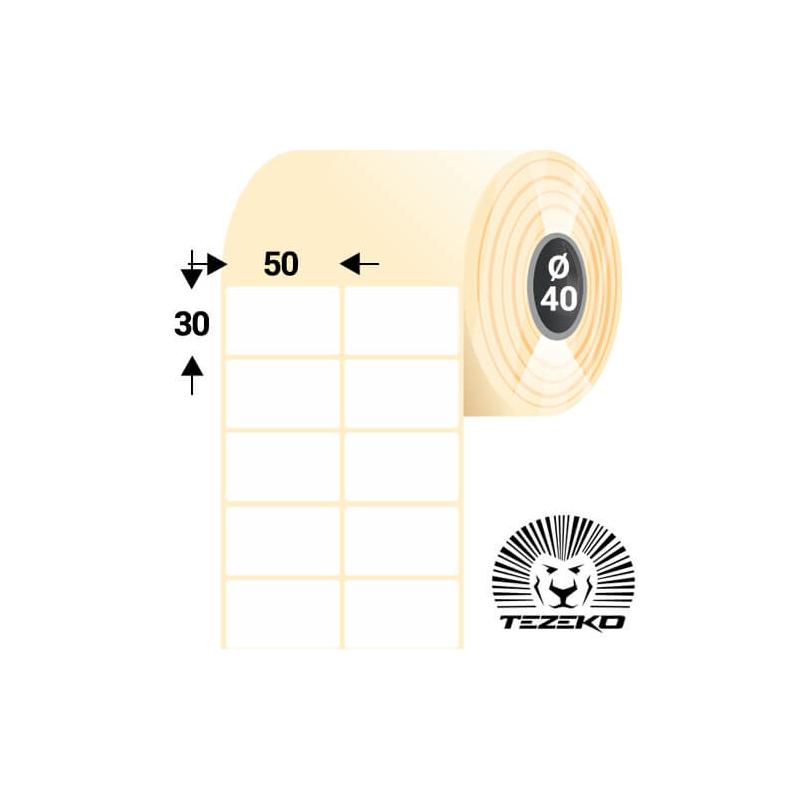 50 * 30 mm-es, öntapadós termál etikett címke (5000 címke/tekercs)