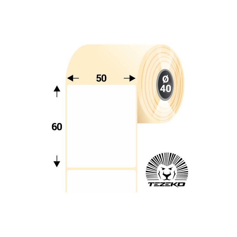 50 * 60 mm-es, öntapadós termál etikett címke (3000 címke/tekercs)