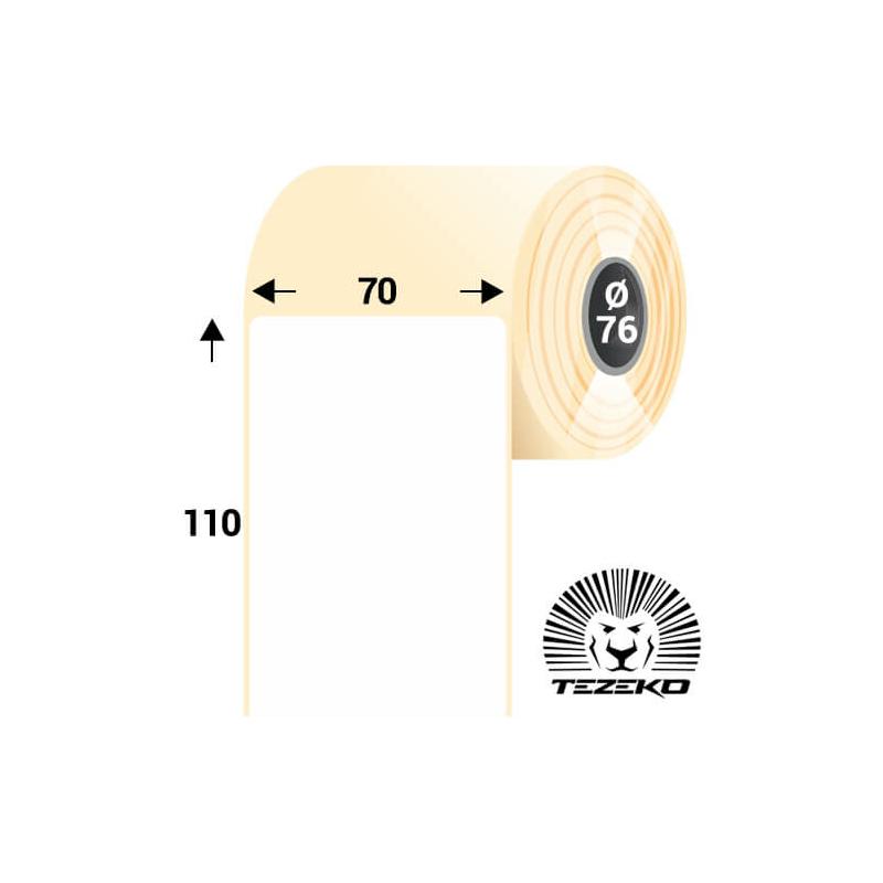70 * 110 mm-es, öntapadós termál etikett címke (1600 címke/tekercs)