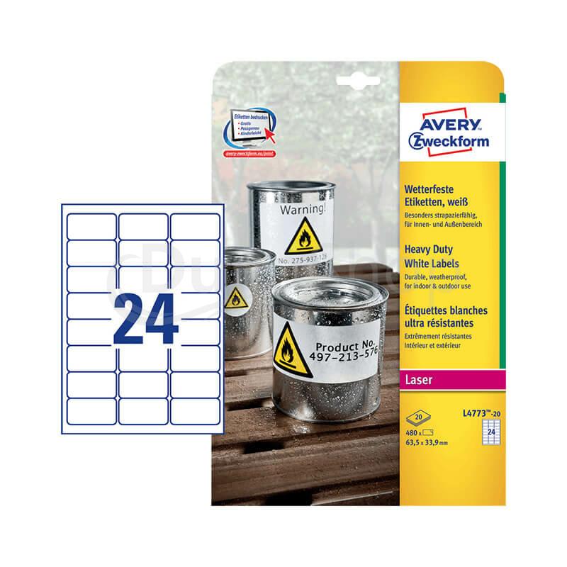 Avery Zweckform öntapadó íves etikett címke L4773-8