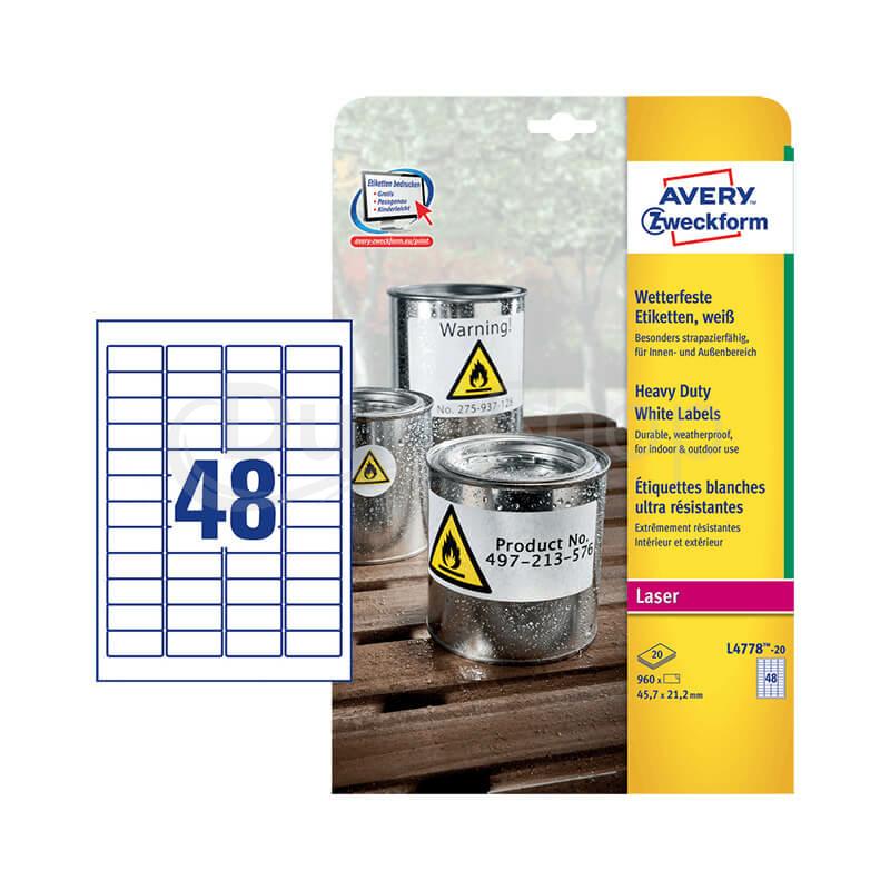 Avery Zweckform öntapadó íves etikett címke L4778-20