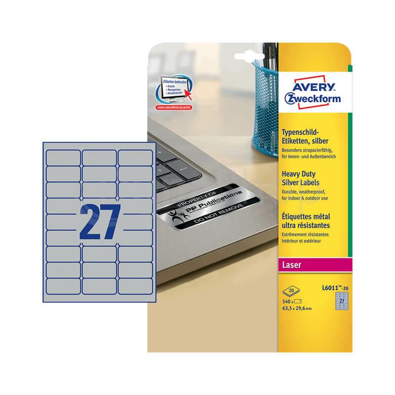 Avery Zweckform öntapadó íves etikett címke L6011-20