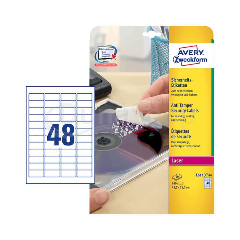 Avery Zweckform öntapadó íves etikett címke L6113-20