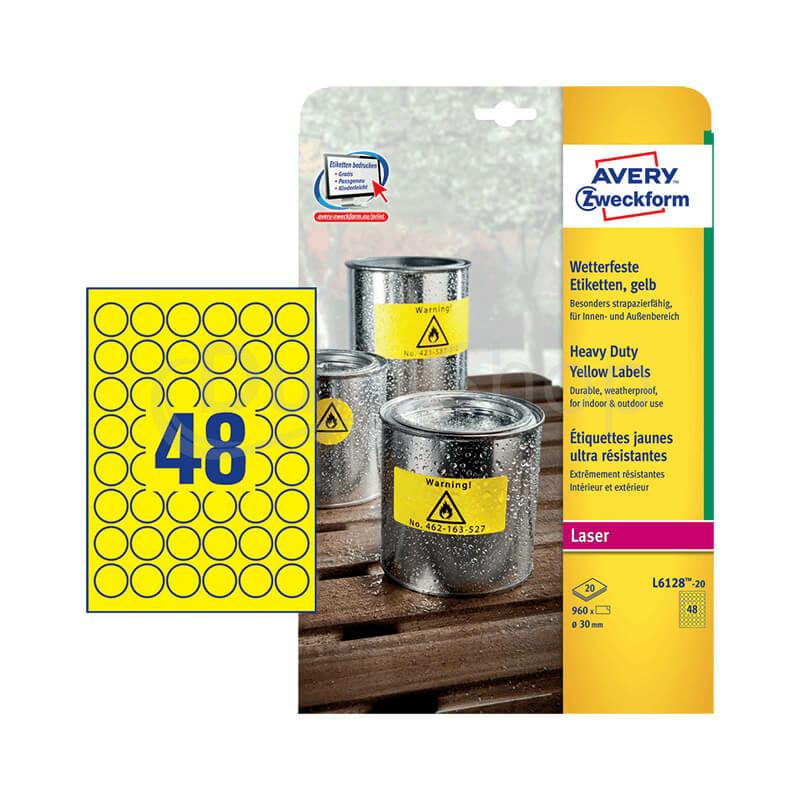 Avery Zweckform öntapadó íves etikett címke L6128-20