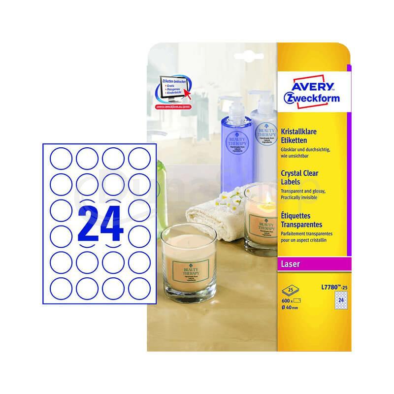 Avery Zweckform öntapadó íves etikett címke L7780-25