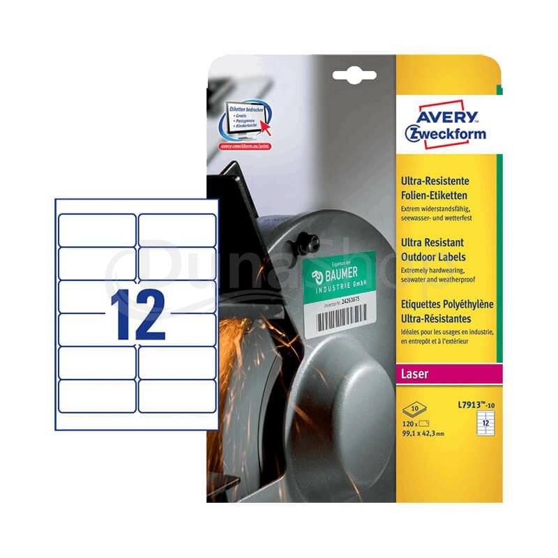 Avery Zweckform öntapadó íves etikett címke L7913-10