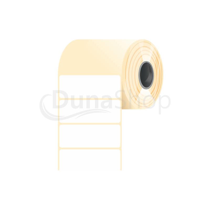 40 * 15 mm-es, öntapadós műanyag etikett címke (2500 címke/tekercs)