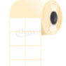43 * 38 mm, samolepiace termo etikety (1600 etikiet/kotúč)